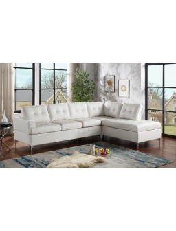 Vintage White Sectional
