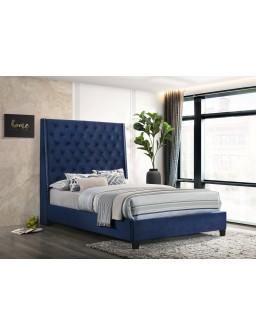 Blue Queen Bed Platform -...